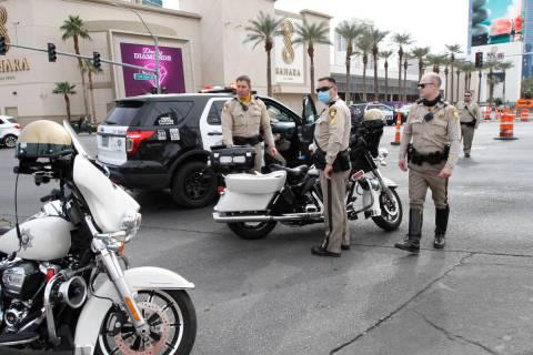 Las Vegas police investigate a fatal accident near Sahara Avenue and Las Vegas Boulevard South ...