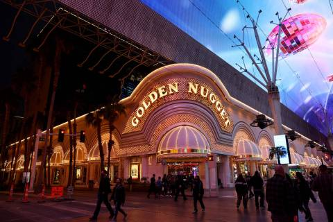 The Golden Nugget in downtown Las Vegas on Monday, Feb. 1, 2021. (K.M. Cannon/Las Vegas Review- ...