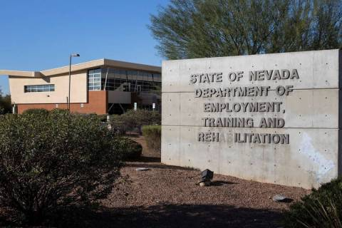 The State of Nevada's Department of Employment, Training and Rehabilitation Center in Las Vegas ...