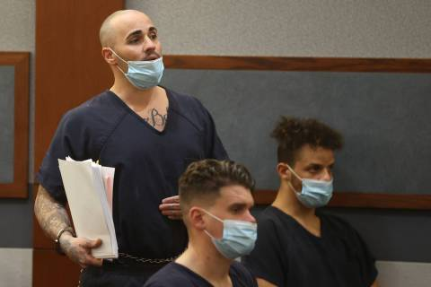 In this Jan. 26, 2021, file photo, former 311 Boyz gang member Steven Gazlay appears in court a ...