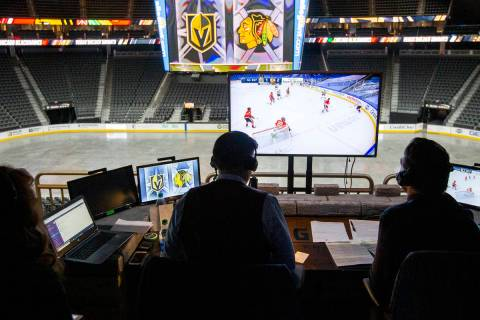 Instead of broadcasting the game in Edmonton where the Vegas Golden Knights played th ...