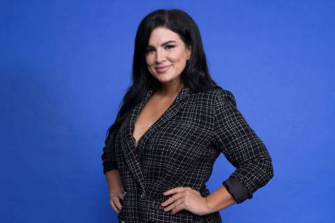 "Gina Carano is seen at the Disney Plus launch event promoting ""The Mandalorian"" at the London W ..."