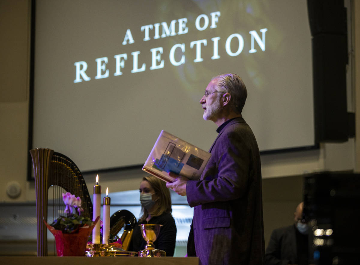 Pastor Craig Michaelson speaks during an Ash Wednesday service at Faith Community Lutheran Chur ...