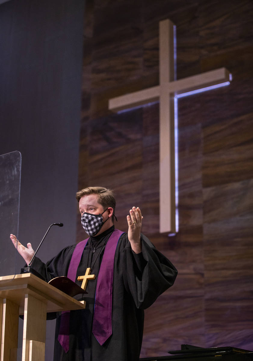 Joe Svensen sings during an Ash Wednesday service at Faith Community Lutheran Church on Wednesd ...