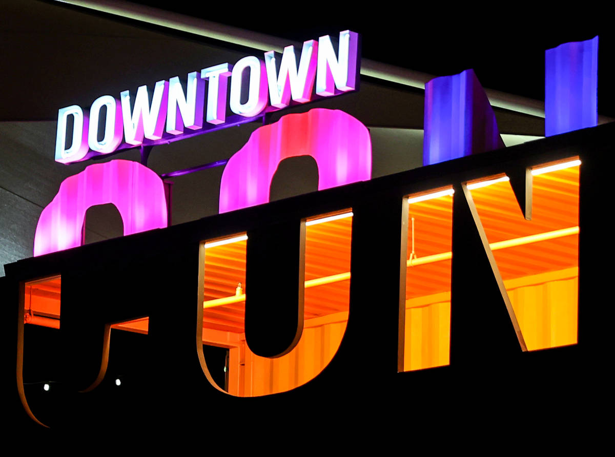The Downtown Container Park in Las Vegas Wednesday, Feb. 17, 2021. The family of the late Tony ...