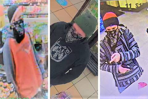 Police are searching for this man in connection to a number of armed robberies across the Las V ...