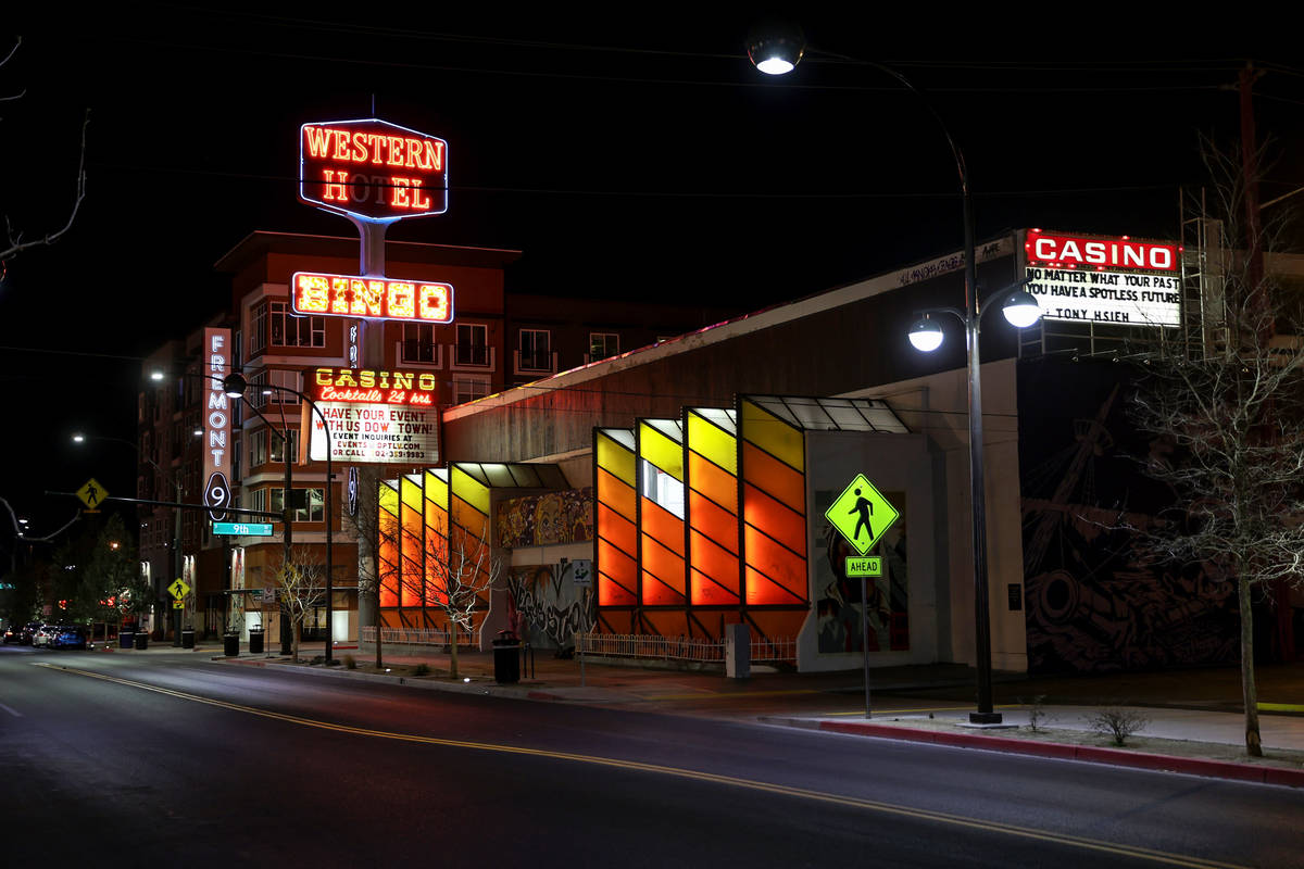The Western Hotel in Las Vegas Wednesday, Feb. 17, 2021. The family of the late Tony Hsieh is s ...