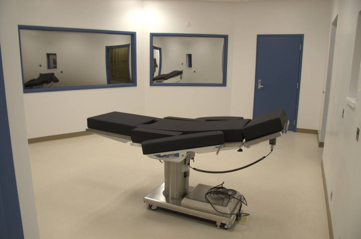 A view of the gurney inside the execution chamber at Ely State Prison in this Nov. 10, 2016, fi ...