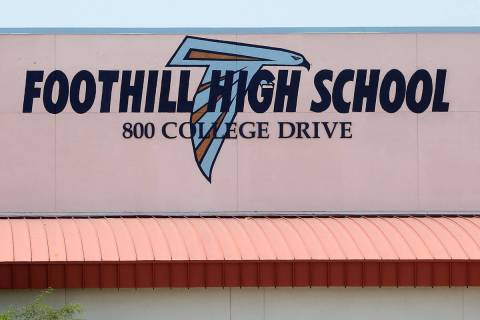 Foothill High School in Henderson (Bizuayehu Tesfaye/Las Vegas Review-Journal) @bizutesfaye
