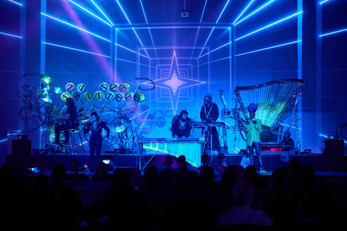 A look at the Soul in the Machine show at The Portal at Area15 on Saturday, February 21, 2021. ...