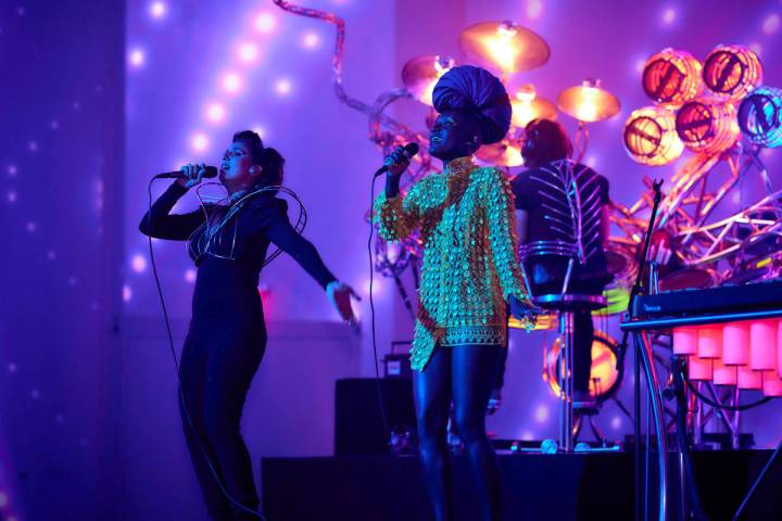 Noybel Gorgoy and Marieme Diop are shown with Soul in the Machine at The Portal at Area15 on Sa ...