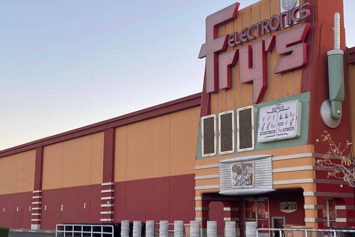 Fry's Electronics at Town Square in Las Vegas, pictured Wednesday, Feb 24, 2021, will be one of ...