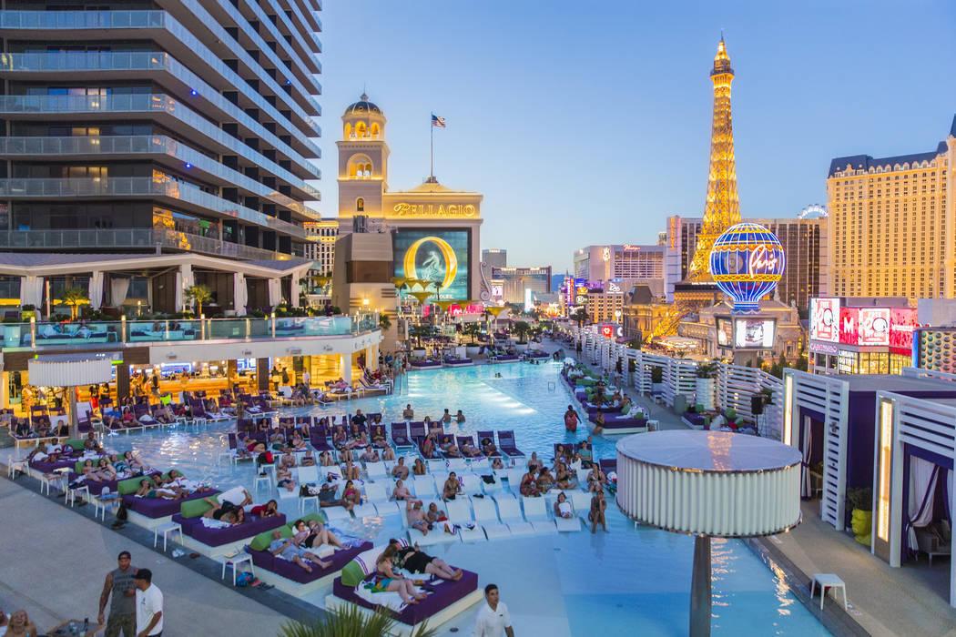 Dive-In Movies at Boulevard Pool at the Cosmopolitan Las Vegas on Monday, June 5, 2017. (Benjam ...