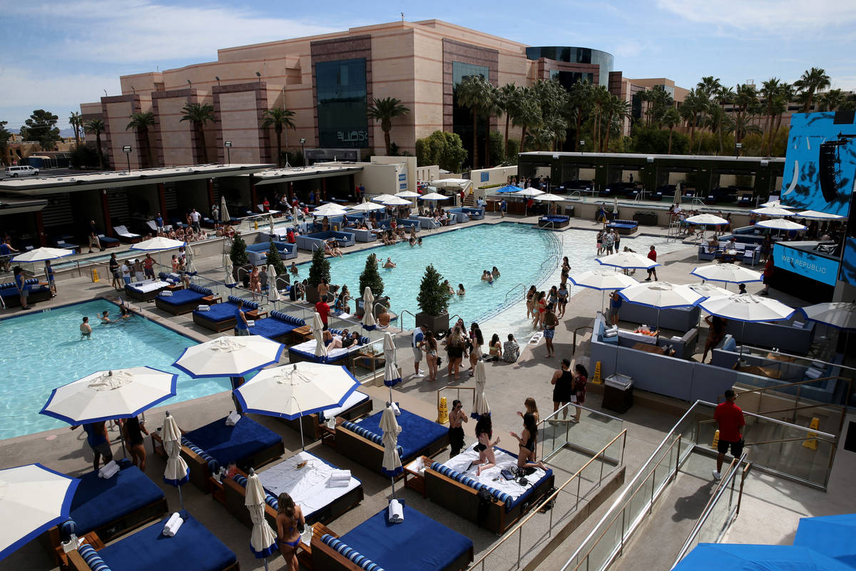 Wet Republic at MGM Grand in Las Vegas on Friday, March 6, 2020. (K.M. Cannon/Las Vegas Review- ...