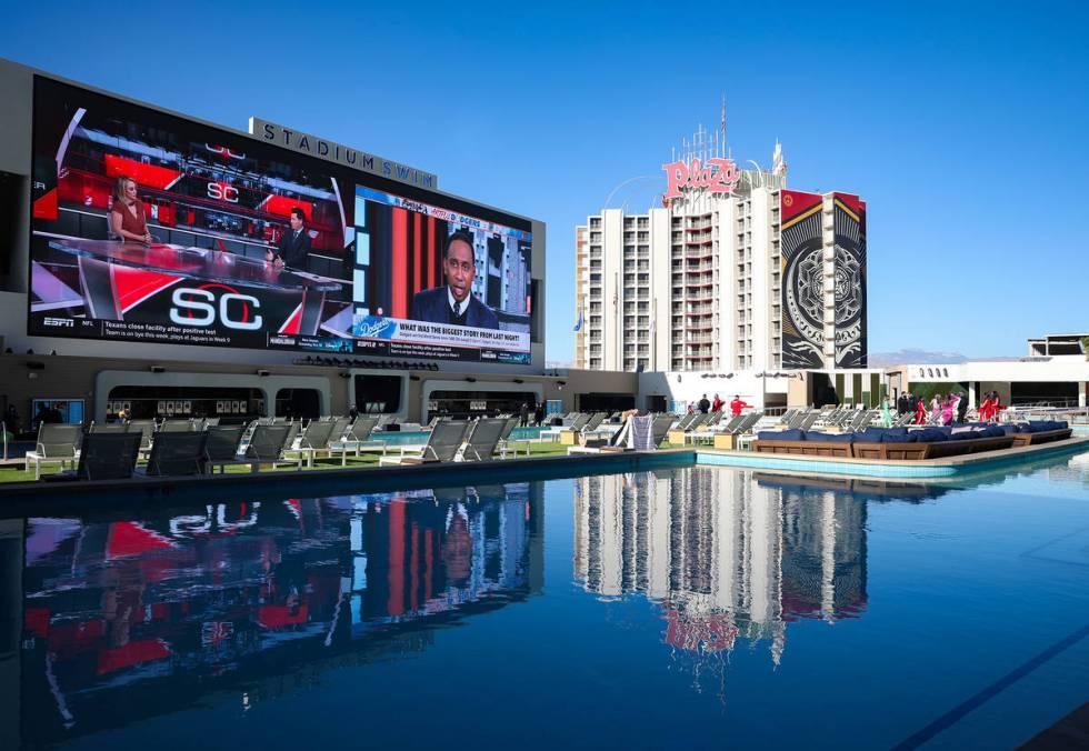 Stadium Swim, open year-round, at Circa in Las Vegas, Wednesday, Oct. 28, 2020. (Rachel Aston/L ...