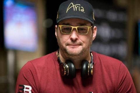 Phil Hellmuth during the World Series of Poker Main Event at the Rio Convention Center in Las V ...