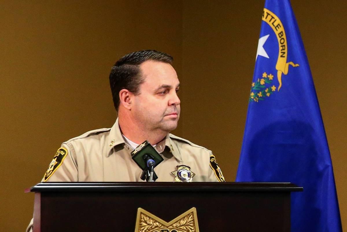 Assistant Sheriff Chris Jones, seen in June 2020. (Chase Stevens/Las Vegas Review-Journal)