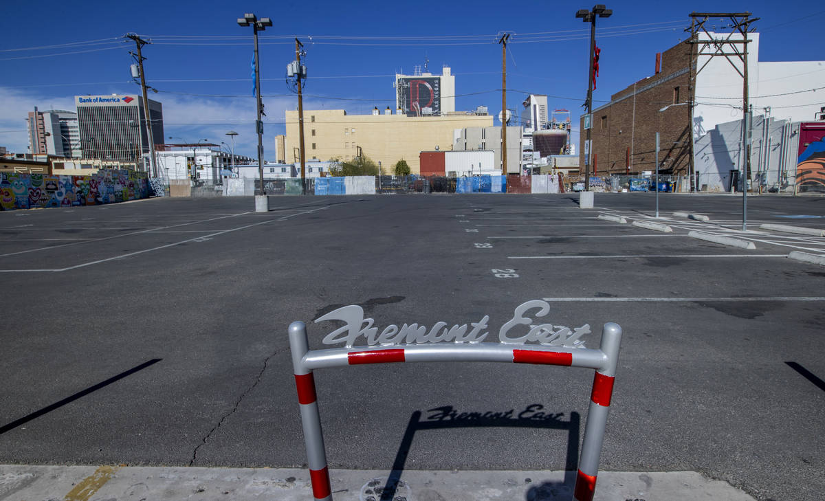 Parking lot at 118 S. 7th St. in downtown Las Vegas that was owned by Tony Hsieh on Tuesday, Ma ...