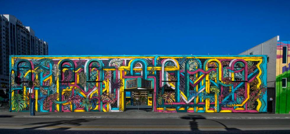 A closed commercial building at221 N. Seventh St. in downtown Las Vegas, was owned by Tony ...
