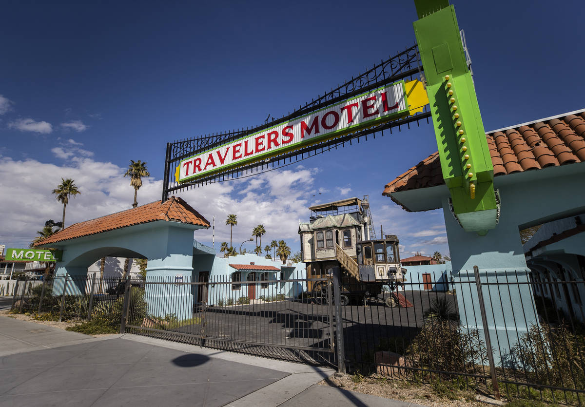 The former Travelers Motel at 1100 East Fremont St. in downtown Las Vegas. (Benjamin Hager/Las ...
