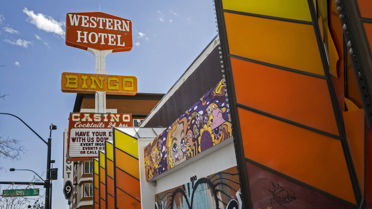 The former Western Hotel at 899 East Fremont St. in Downtown Las Vegas owned by Tony Hsieh pho ...