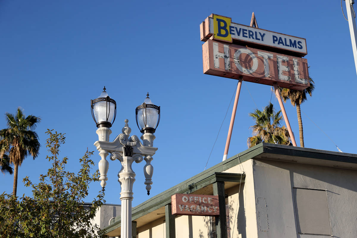 The former Beverly Palms Hotel owned by Tony Hsieh at 218 S. 6th St. in downtown Las Vegas phot ...