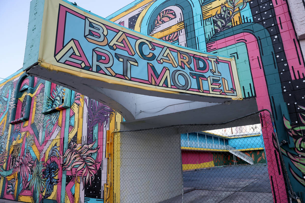A closed motel known as the Art Motel at 221 N. 7th Street in downtown Las Vegas was owned by T ...