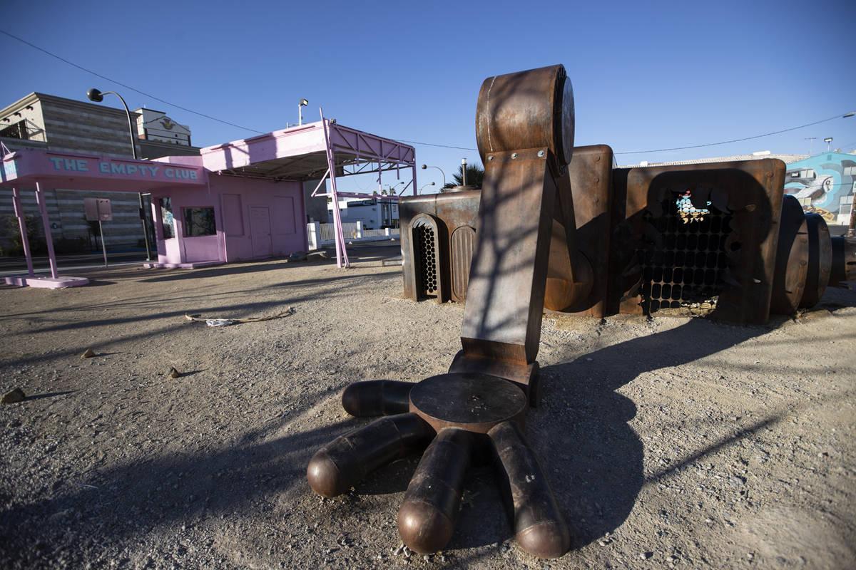 A property at 800 E. Fremont St. (Erik Verduzco / Las Vegas Review-Journal) @Erik_Verduzco