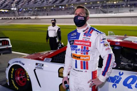 Matt DiBenedetto waits for the start of the NASCAR Clash auto race at Daytona International Spe ...