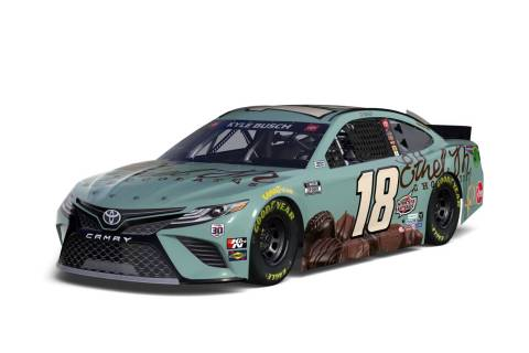 Kyle Busch's paint job in Sunday's Pennzoil 400 at Las Vegas Motor Speedway will pay homage to ...