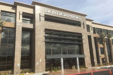 Casino operator Boyd Gaming Corp.'s headquarters at 6465 S. Rainbow Blvd., Las Vegas. (Eli Sega ...