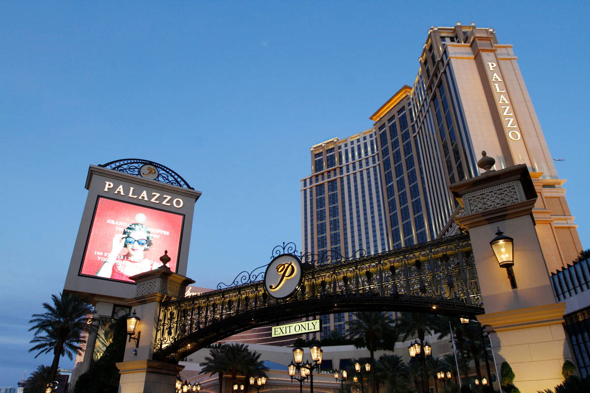 This Nov. 21, 2020, file photo shows The Palazzo on the Las Vegas Strip. (Chitose Suzuki / Las ...