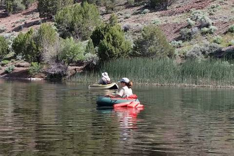 Anglers enjoy a day of trout fishing at Eagle Valley Reservoir. The Lincoln County reservoir of ...