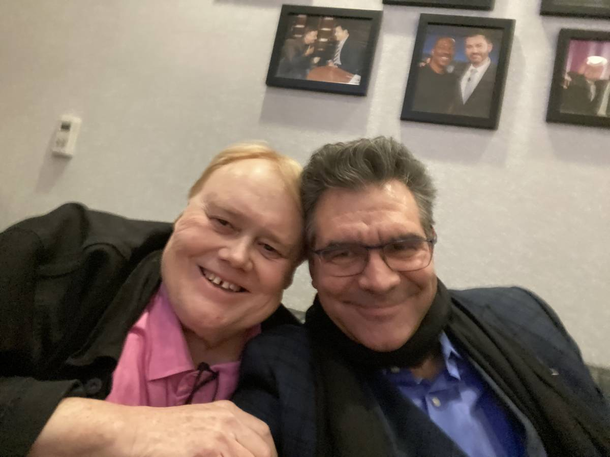 Louie Anderson and R-J columnist John Katsilometes are shown at Jimmy Kimmel's Comedy Club on F ...