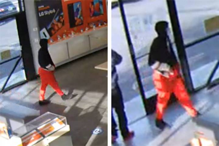Police are seeking this man in connection to an armed robbery Tuesday, March 2, 2021, on the 27 ...