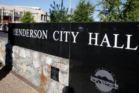 Henderson City Hall. (Bizuayehu Tesfaye/Las Vegas Review-Journal) @bizutesfaye