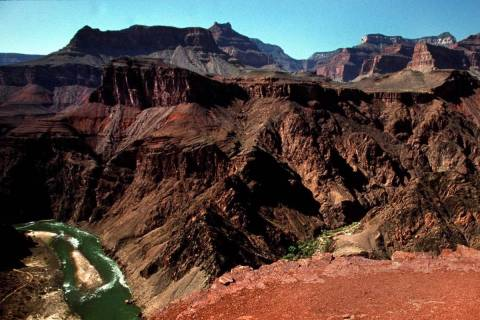 A view of the Colorado River from the South Kaibab Trail at Grand Canyon National Park. (Las Ve ...
