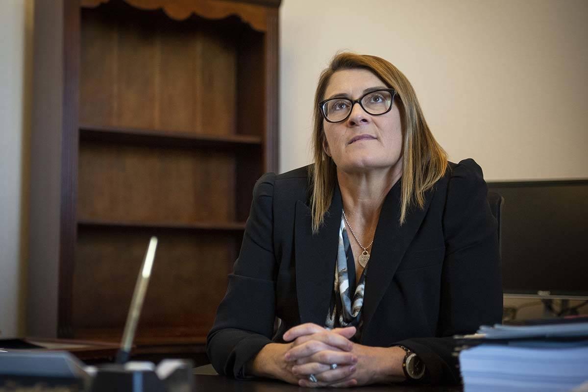 District Judge Jennifer Togliatti at the Regional Justice Center on Nov. 28, 2018. Togliatti ma ...