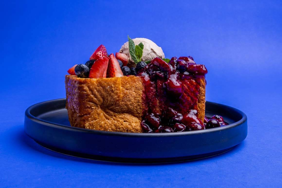 Fresh Berry Latin Honey Toast at Makers & Finders. (Makers & Finders)