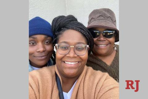 Sisters Dana Jackson (left) and Iris Alexander (center) are pictured with their mother, Gwendol ...