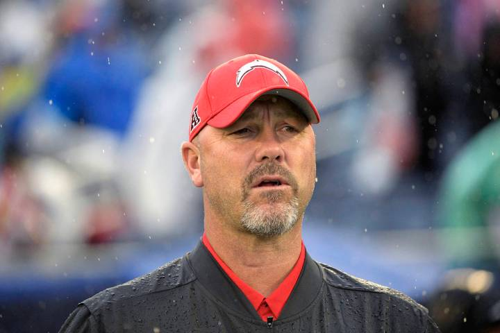 AFC defensive coordinator Gus Bradley watches during the first half of the NFL Pro Bowl footbal ...