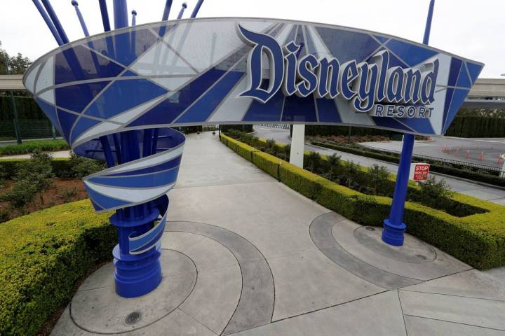 Disneyland Resort is seen in March 2020 in Anaheim, California. (AP Photo/Chris Carlson)