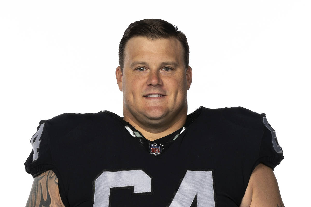 This is a 2020 photo of Richie Incognito of the Las Vegas Raiders NFL football team. This image ...