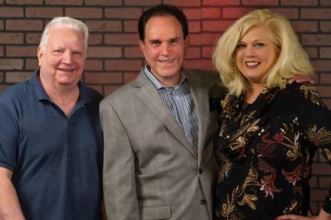 Legendary impressionist Rich Little is shown with producers Rich Faverty and Penny Wiggins in t ...