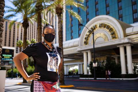 Shauna McQueen posed outside the Golden Nugget on June 11, 2020. McQueen, who is set to return ...