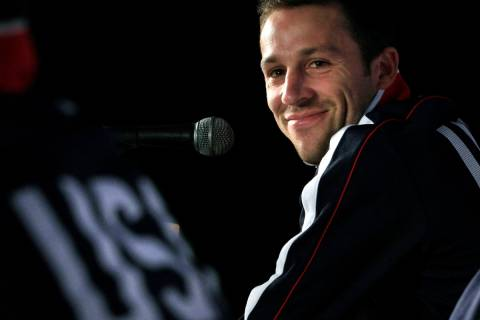 In a June 21, 2010 file photo, U.S. national soccer defender Steve Cherundolo smiles during a n ...