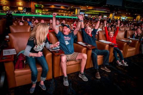 Gonzaga fans, from left, Cindy Sullivan, Jeff Sullivan Jr., Jeff Sullivan Sr. and Patsy Sulliva ...