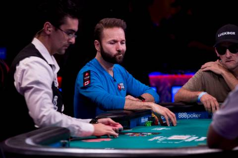 Daniel Negreanu plays in the World Series of Poker $10,000 no-limit hold 'em Main Event at the ...