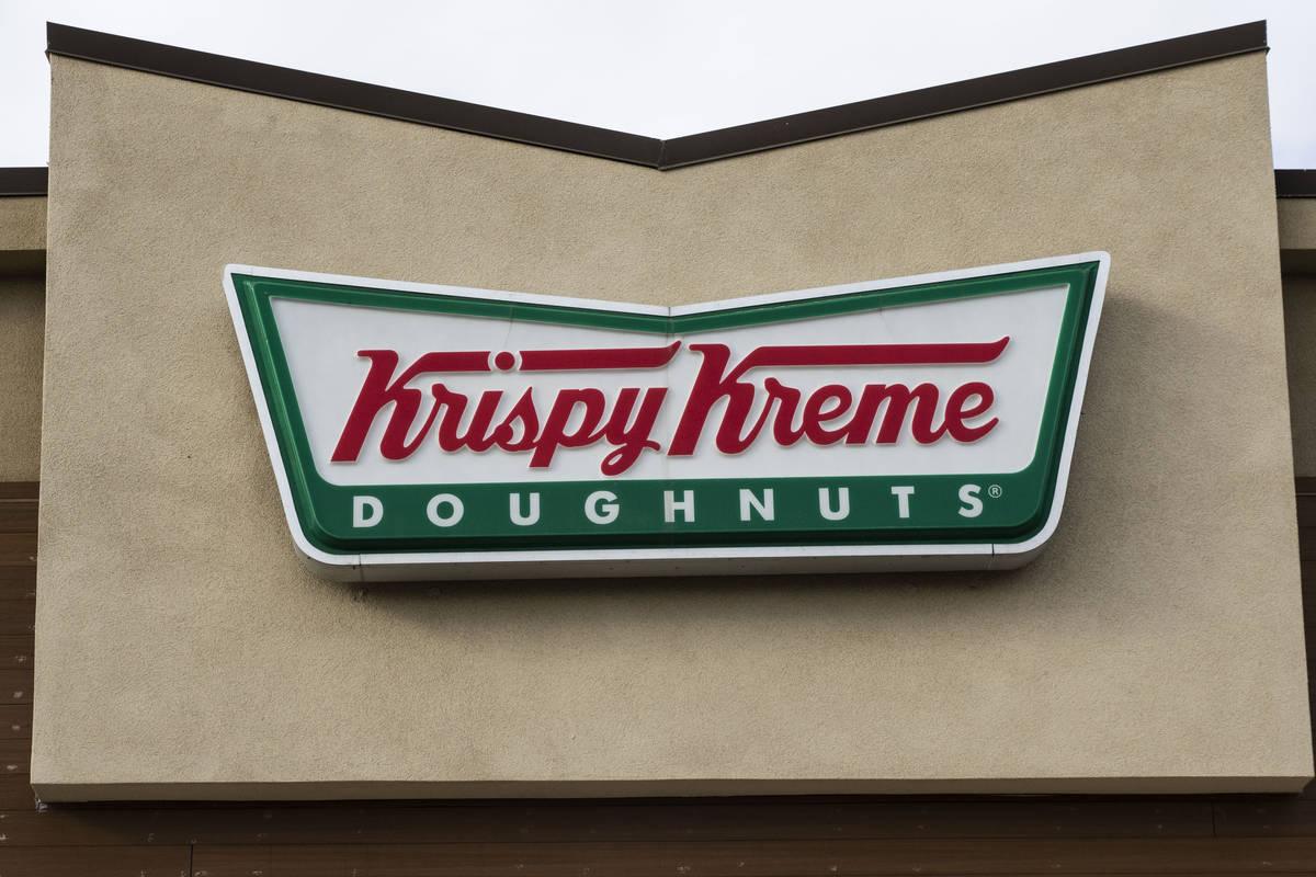 Krispy Kreme Doughnuts is giving away free doughnuts this week. (Bizuayehu Tesfaye/Las Vegas Re ...