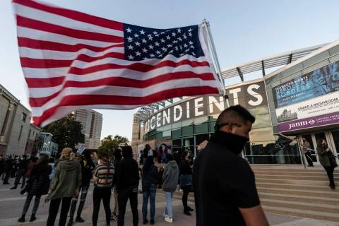 """Demonstrators participate at a rally """"Love Our Communities: Build Collective Power"""" to raise aw ..."""